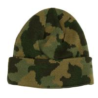 China Custom Made Camouflage Knit Beanie Hats For Guys 56-60cm Size Breathable on sale