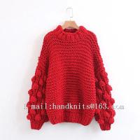 Buy Hand Knit Sweater, Hand Knitted Cardigan, Handmade Pullover Bohemian Dress, Stylish Bubble Dress at wholesale prices