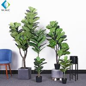 Green Artificial Ficus Plant , Ficus Lyrata Plant For Home Decoration R020002 for sale