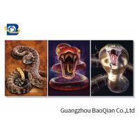 Quality Wall Decorative Framed 3d Picture Of  Ocean Animal / Snake , Moving Flipped Photo for sale
