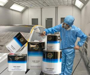 Quality Color Blending Gold Automotive Acrylic Paint High Gloss Liquid Coating State for sale
