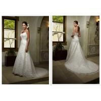 Court Train Vintage A Line Beaded Wedding Dresses With Appliques Fashion