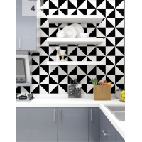 Quality Multiple Patterns White And Black 300*300mm Room Wall Tile for sale