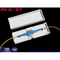 Buy cheap Indoor Fiber Optic Terminal Box , Drop Cable Protection Box Adapter Box 1 Cores SC / APC product