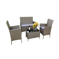 China OEM ODM 4 Piece Rattan Garden Furniture Set , Wicker Patio Table And Chairs on sale
