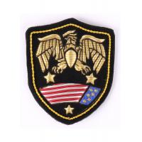 China Eagle Pattern Embroidered Military Patches 3 Colors With Laser Cut Boder on sale