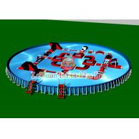 Quality Outdoor Portable Round Steel Frame Pool PVC Tarpaulin And Metal Frame for sale