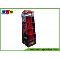 Point Of Sales PDQ Retail Display Custom Corrugated With 12 Pockets POC040