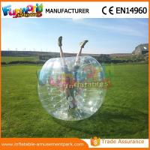 Buy cheap 1.2 M Diameter PVC Transparent Inflatable Bubble Soccer Human Zorb Ball product