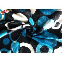 China Warp Knitting Stretch Velboa Fabric , Womens Velvet Dress Fabric Material on sale