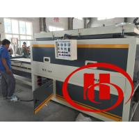 Quality wood and plastic wpc door board vacuum laminate machine, door board surface treatment machine for sale