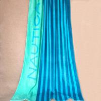 Spectacular Huge Striped Beach Towels , Light Blue Beach Chair Towels For Adult