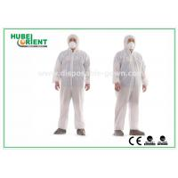 Quality Hooded Nonwoven Disposable Coveralls with Various Colors CE Standard for sale