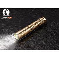 Quality Waterproof Everyday Carry Flashlight Brass Material Good Heat Dissipation for sale
