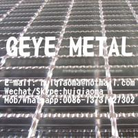 Quality Serrated I-Bar Steel Gratings, Anti-Slip Welded Metal Bar Gratings for Driveways, Road Safety Grates for sale