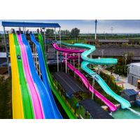 Quality Durable Adult Water Slide Free Fall Slide 780 Persons / Hour Sliding Mode for sale