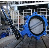 Quality 8'' lug butterfly  valve DN200  sofe seat ductile iron center line used in the seawater direct selling in factory for sale