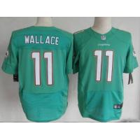 China Nike NFL Miami Dolphins 11# mike wallace green elite Jersey on sale