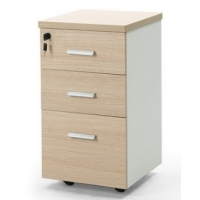 Buy cheap Office Furniture Wooden Panel Pedestal Credenza Movable Three Drawer Cabinet from wholesalers