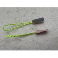 China Fluorescent Green Rope Eye Catching Rubber Zipper Puller For Outdoor Sportswear on sale