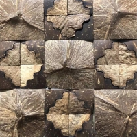 Buy cheap 23x23x8mm Coconut shell 3 Feet Natural Fibre Wallpaper from wholesalers