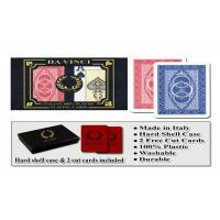 Quality 100% Plastic Da Vinci Route Marked Playing Cards For Poker Cheat Bridge Size for sale
