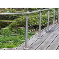 Quality Energy Conservation Stainless Steel Guardrail , Stainless Steel Banister Easy Maintenance for sale