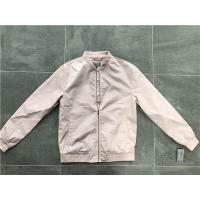 Quality Menswear Zip PU Leather Coat Pink Polyester Nylon Bomber Jacket With Rib Detail TW69113 for sale