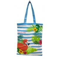 Quality Cotton Tote Canvas Reusable Eco Bags Shopping Handle Large Recycled Beach Grocery Tote for sale