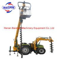 China Factory supply tractor mounted pole erection machine Auger Pile Rig Machine on sale