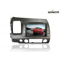 China 2 din touch screen car dvd player for honda civic(lhd) with DSP audi,front DVR camera,TV on sale