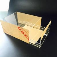 Quality high transparent acrylic popular custom size shoe box with drawer for sale