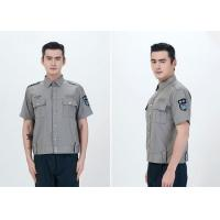 Durable Security Guard Uniform , Mens Security Uniform Shirts With Two Pockets