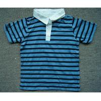 Buy 2000pcs Polo style  boy kid's short sleeve Tee shirt summer blue&white stripe tops at wholesale prices