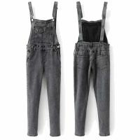 Quality High quality black washed skinny denim overalls dungarees women for sale