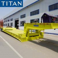 Quality TITAN 120/150 tons heavy duty hydraulic removable detachable RGN lowboy truck trailer for sale for sale