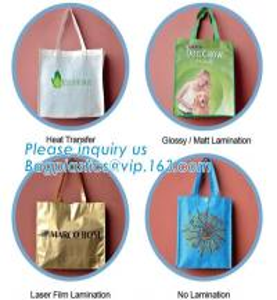Quality shopping bag Non Woven Silkscreen Bags PP Non Woven Bags PP Woven Laminated Bags Cotton Bag RPET Bags Metallic Laminated for sale