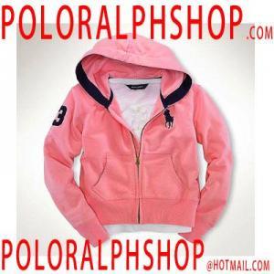 China Cheap Ralph Lauren Women Polo Cotton Hoodies Pink on sale
