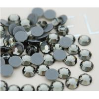 Quality black diamond color loose rhinestones hot fix for sale