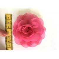 Quality Rose Design Handmade Fabric Corsage Flower For UK High Street Shop Brand for sale