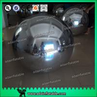 Quality Wedding Stage Christmas Decoration Inflatable Mirror Balls Large Gold / Silver for sale
