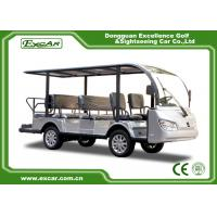 China Silver 11 Seater Electric Sightseeing Bus 7.5KW KDS Motor 1 Year Warranty on sale