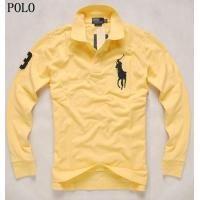 China brand new ralph lauren polo shirt,  long style,  yellow,  wholesale on sale