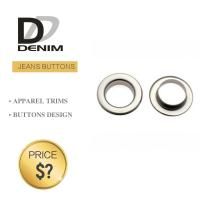 Quality Metal Material Denim Eyelet Clothing O Ring Rivet With Brass Gold Color for sale
