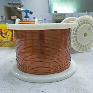 Buy cheap Ultra Fine 0.02mm Self Bonding Magnet Rectangular Enamelled Copper Wire ISO 9001-2000 from wholesalers