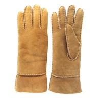 Quality Fashion Ladies Sheepskin Gloves , Ladies Real Leather Gloves Plain Style for sale