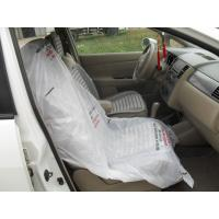 Quality LDPE Steering Wheel Disposable Car Seat Covers / Car Foot Mat / Gear Cover for sale