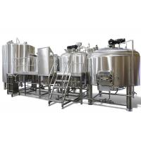 China Industrial Brewing 3 Vessel Brewhouse 3mm For Interior Shell / 2mm For Exterior Shell on sale