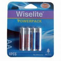 China 4B Power Pack Alkaline LR6 AA Batteries with 1.5V Nominal Voltage on sale