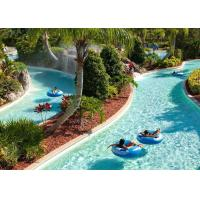 Quality Outdoor Water Park Lazy River Swimming Pool With Wave Making Machine for sale